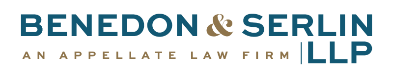 Benedon & Serlin, LLP An Appellate Law Firm Home